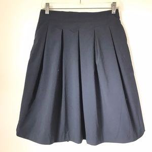 Uniqlo Navy Pleated Skirt sz M